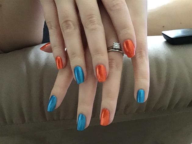 Orange & Aqua