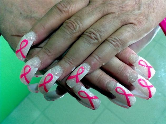 Pink Ribbons Nail Art Gallery