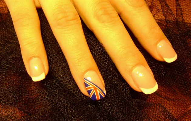 London flag nails nail art gallery london flag nails prinsesfo Images