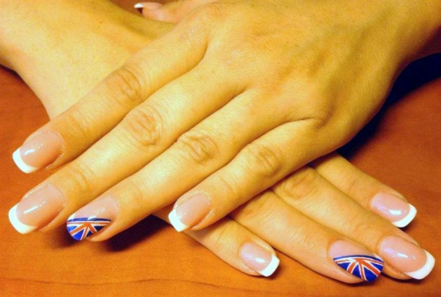 english flag nail
