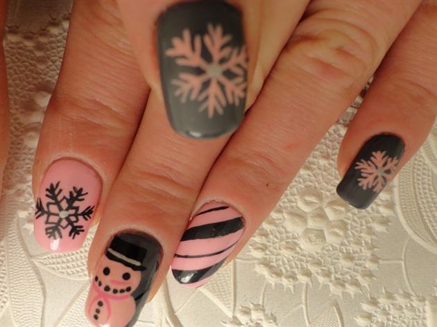 Pink Snowmen