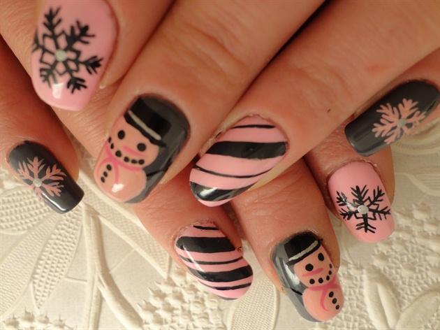 Pink Snowmen Inspired By OLI123