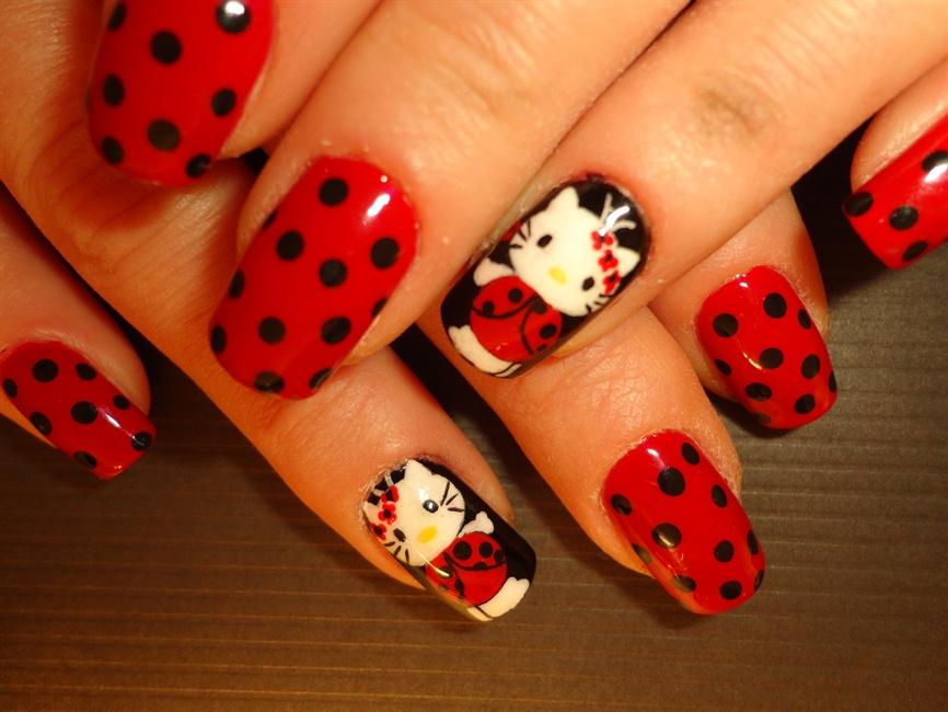 - Ladybug Hello Kitty - Nail Art Gallery