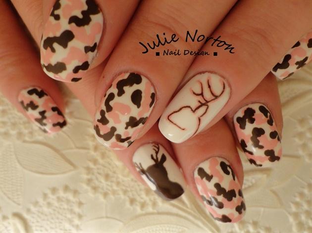Pink Browning Nails