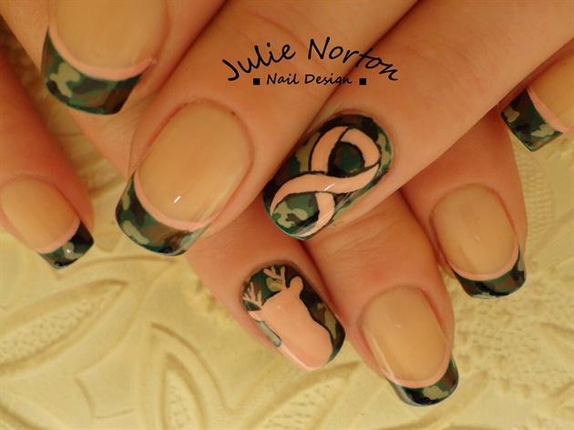Breast Cancer Camo Nails Nail Art Gallery