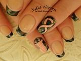 Breast Cancer Camo Nails