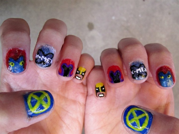X men nail art gallery x men prinsesfo Image collections