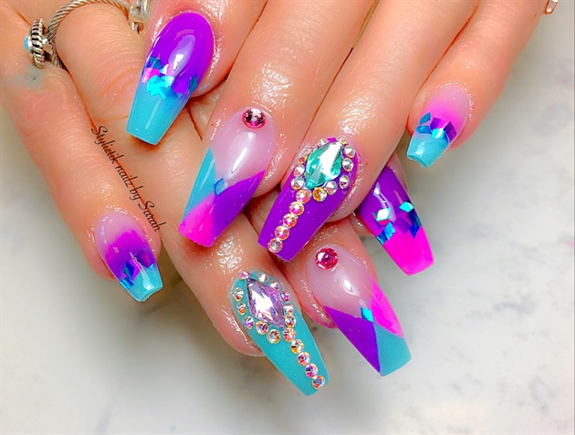Purple , Pink, Tiffany