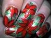 Poinsettia Xmas Nails