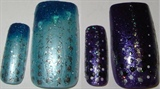 2-tone blue with gems, Purple/white/blac