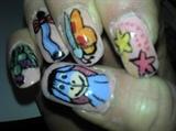 Eeyore themed nails
