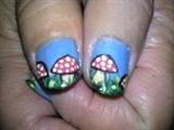 Mum's Smurf nails -thumb nails