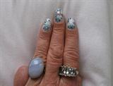 Stick on nail art