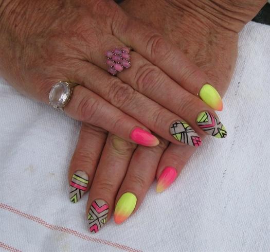 geometric and neon