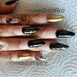 black & gold zebra print