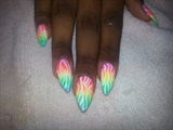 gradient neon zebra print