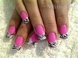 Pink & White zebra stripes