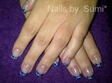 blue & purple checkerbord:)