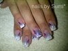 french with purple glitter