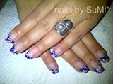 Blue & pink gel marble