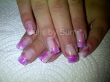 Pastel pink & purple marble