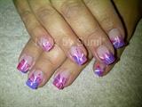 Hot pink & purple acrylic