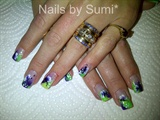 Butterfly-green and purple*