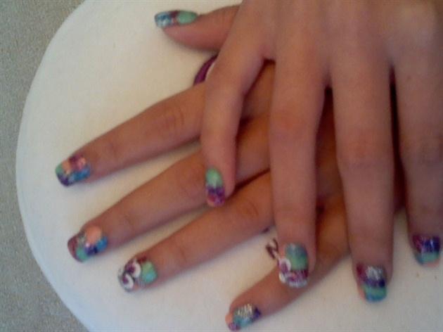 3d floral nail design