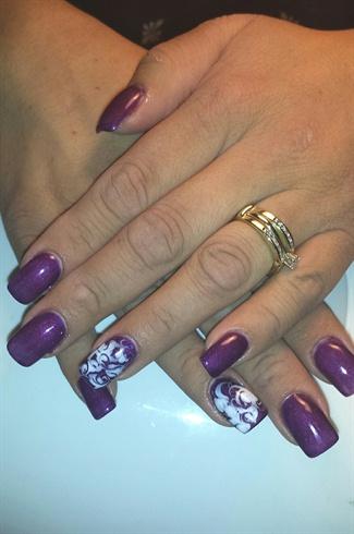 Purple Gel with White Swirls