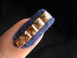 Velvet Nails with studs