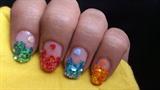 Sequins Nail Art Manicure