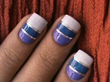 Striping nail art design