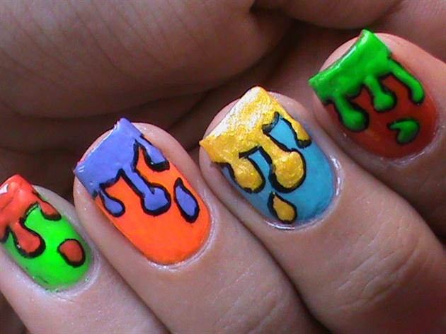 Dripping paint nail art design colorfu nail art gallery dripping paint nail art design colorfu prinsesfo Choice Image