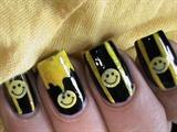Cute Smiley Easy Nail Design For Beginne