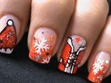Sexy Santa Girls - Christmas Nail Art Tu