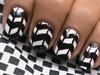 Black And White Nail Art - Handpainted N
