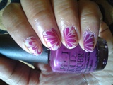 purple water nail art