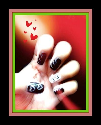 easy heart nails