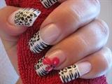..zebra with tigerlili..