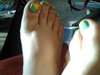 Yellow/green Pedicure