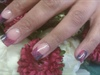 pink & purple color fade & black lace