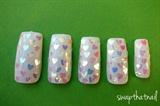 Shiny heart Nails
