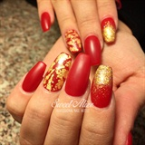 Red and Gold Foil!