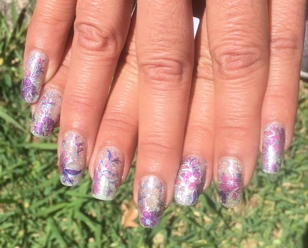 Born Pretty Purple Flower Foils
