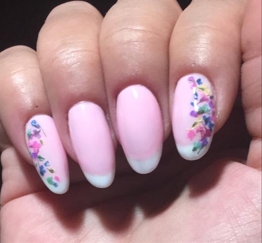 Gel Pink Floral
