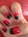Dégradé Rouge Et Noir