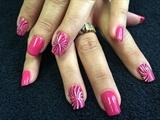 OPI Pink Flamenco With Swirls