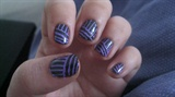 black/purple stripes