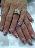 Silver Gel followed with zebra stripes