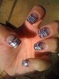 purple, white, and silver